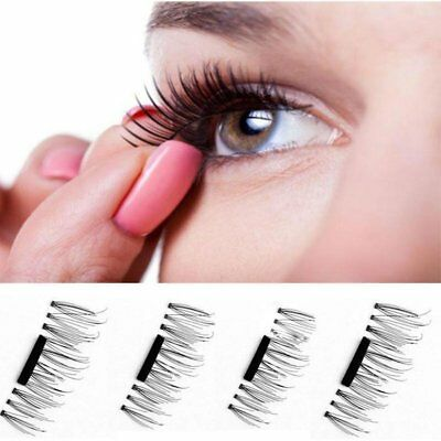 8 PCS/4 PCS 3D Magnetic False Eyelashes Natural Eye Lashes Extension Handmade
