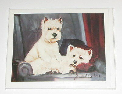 West Highland White Terrier Notecards Envelopes Set of 6 New Westies Dogs