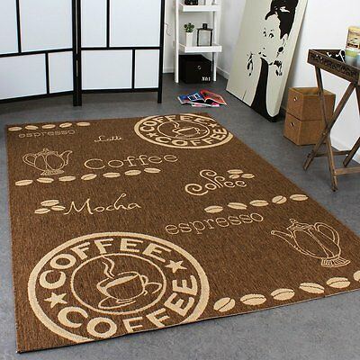 Brown Kitchen Rug Flat Weave Carpet for Floor Easy Care  Mat Small Extra Large X