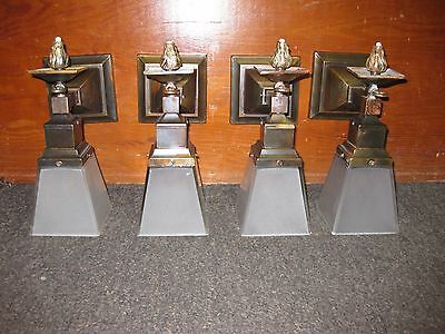 Antique Set Of 4 Mission,Arts & Crafts Gas & Electric sconces