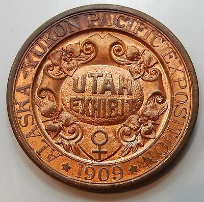 1909 Alaska-Yukon Pacific Exposition Utah So Called Dollar, HK 359 - UNC !!