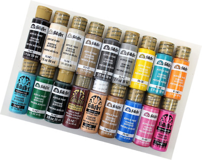 FolkArt Acrylic Paint in Assorted Colors (2-Ounce), PROMOFAII Best Selling Color