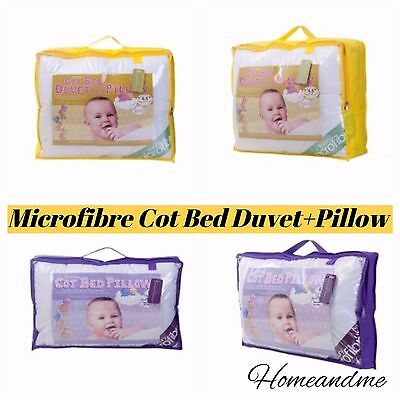 Microfibre Cot Bed Duvet and Pillow Toddler Bed Quilt 4.5 TOG 7.5 Tog 9.0 TOG