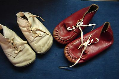 2 Pair Vintage Baby Shoes Circa 1959