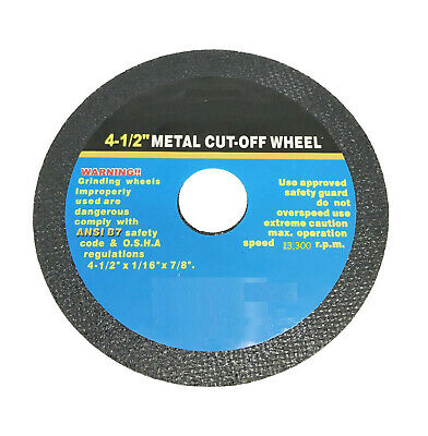 """10pc 4-1/2"""" Cut Off Wheel For Metal Cutting Disc Grinders 1/16"""" Thickness"""
