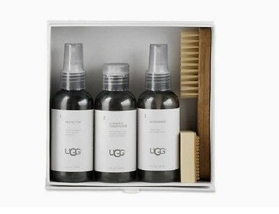 UGG Care Kit 1017846 4 oz Cleaner & Conditioner Protector + Brush + Scuff NEW