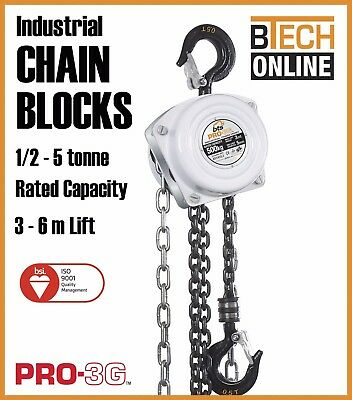 Chain Block Manual 500kg to 5T, 3m and 6m