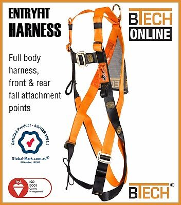 Safety Harness ENTRYFIT  Australian Compliance AS/NZS1891.1 Front/Rear Attach