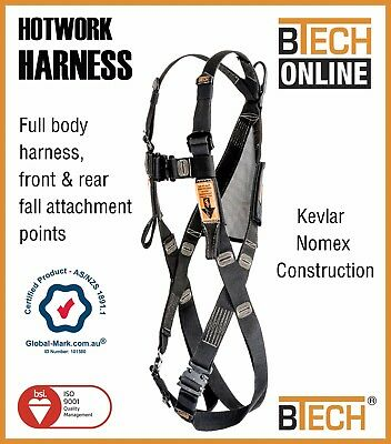 Kevlar/Nomex Full Body Harness Height Safety Australian Certified BTECH Brand