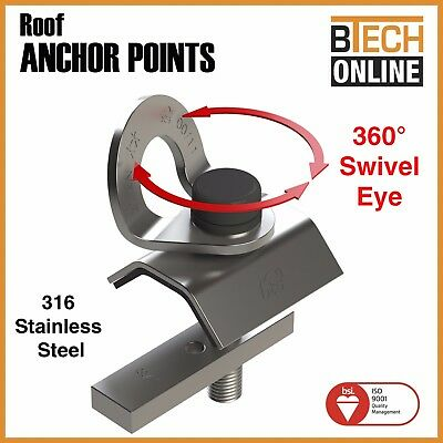 Anchor Points Purlin Roof Anchor Point 21Kn 2 Person Rated Aust Certified