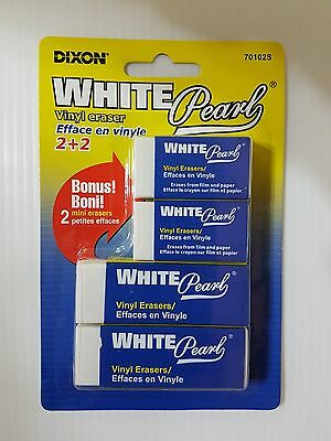 Dixon White Vinyl Erasers (2 small + 2 big)