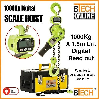 Lever Hoist Electronic Load Scale 1000Kg 1.5m