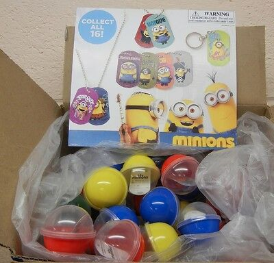 """73 Minion Lenticular Sticker Tags in 2.2"""" capsules + 1 Display Card"""