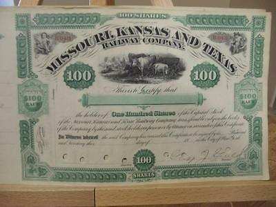 18?? George Jay Gould Signed ~  Missouri, Kansas & Texas Railway Company