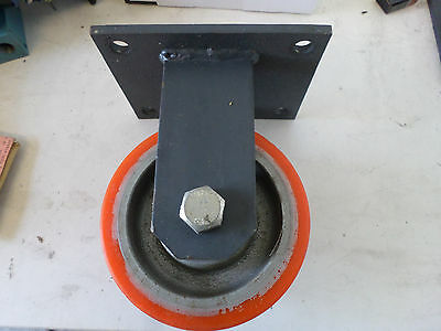 HEAVY DUTY ROCARR POLYURETHANE/CAST IRON WHEEL UNIT  160mm Dia