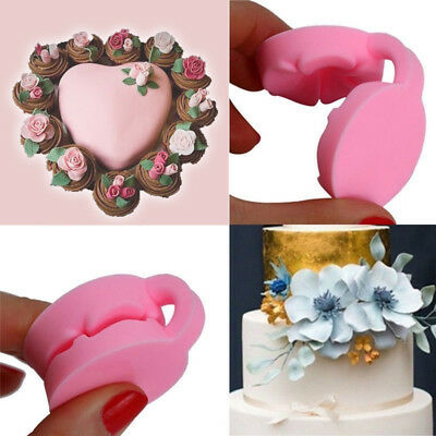 Pink 3D Rose Flowers Fondant Cake Chocolate Sugarcraft Silicone Mould Mold Tools