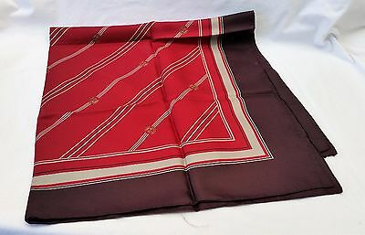 Vintage CATHAY PACIFIC AIR LINES Silk Scarf  Marco Polo Club