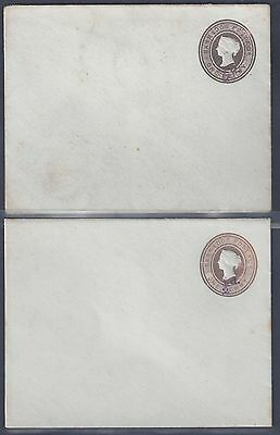 BARBADOS 1890's TWO POSTAL COVER 1/2 d SURCHARGE ON QUEEN VICTORIA ONE PENNY IN
