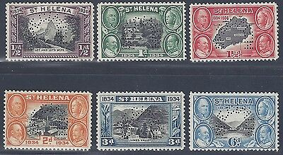St Helena 1934 Perf Specimen Set Of Six Sg 114 119 Fresh Color Cat Val £180