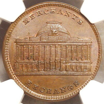 Hard Times Token, HT-294, Merchant's Exchange, CHOICE Uncirculated NGC MS-64BN