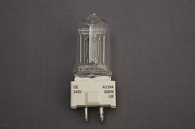 Ge A1/244 240V 500W Gy9.5 Halogen Lamp (30575)
