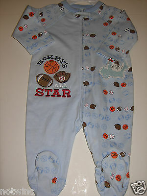 f551fffd7208 FIRST MOMENTS INFANT Baby Boy s Sleeper Pajamas Mommy s All Star ...