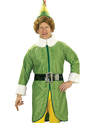 Buddy The Elf Mens Christmas Party Fancy Dress Up Halloween Adult Costume XL