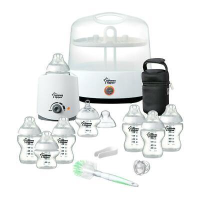 Tommee Tippee Closer to Nature Essentials Kit (White): Includes Steriliser, Bott
