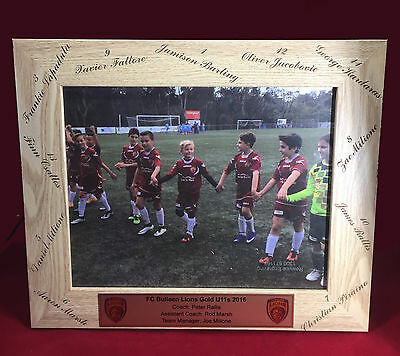 Custom Engraved Photo Frame COACHES GIFT Team Manager Gift or any event