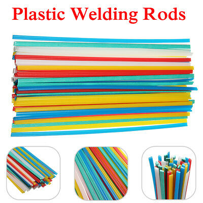 50PCS PP Blue/Yellow/White/Red & PVC Green Plastic Welding Rods Welder Sticks