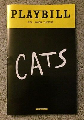 Cats playbill - *New* - *Broadway* - Andrew Lloyd Webber* *Free quick shipping!*