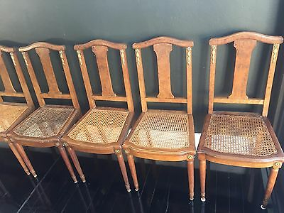 French Antique Oak Dining Chairs x 6 (with table optional)