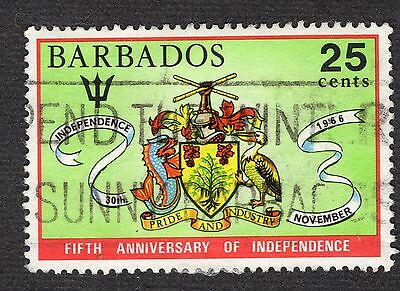 Barbados 1971 25c 5th Anniv of Independence SG438 FINE USED R38306
