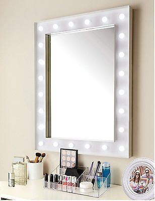 Hollywood 24Led Light Bathroom Dressing Room Make Up Cosmetic Hanging Mirror New