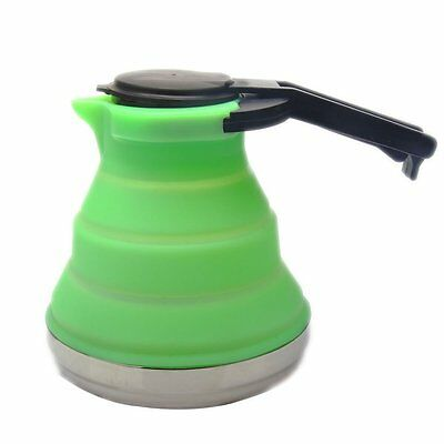 1.5L Silicone Collapsible Tea Kettle Outdoor Camping Travel Kettle Foldable