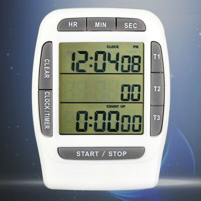 Portable Digital Multi-channel LCD Timer Accurate Timing CountDown Laboratory 3