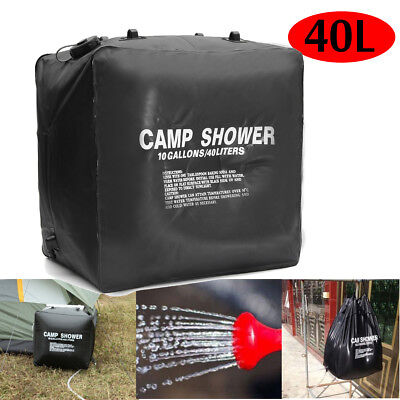 40L Solar Shower Bag Pipe Heating Water Outdoor Travel Camping Folding Portable