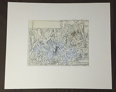 Eduardo Paolozzi SIGNED 1973 original drawing PROVENANCE