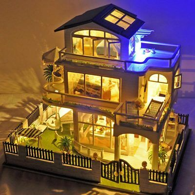 Dollhouse Miniature DIY House Kit With Furniture Nice Gift Impress of Vancouver