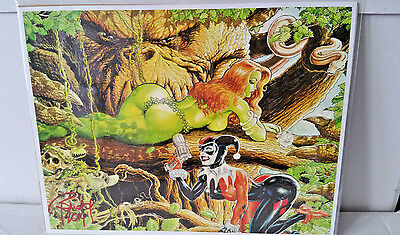 Signed Budd Root Harley Quinn & Poison Ivy Print