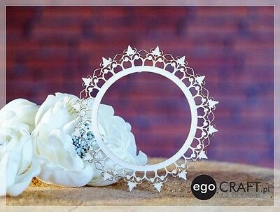Chipboard ego Craft Lasercut Rahmen 80 mm  , Scrapbooking