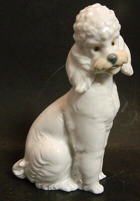 "Vintage Lladro NAO Sitting French Poodle Glazed Finish 6.13"" x 3.5"" (1985) Excel"