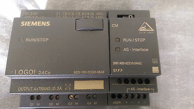 Siemens LOGO PLC Programmable controller 24Co with AS unit S7.F.F