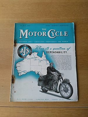 THE MOTOR CYCLE MAGAZINE - 20th JULY 1953 - AJS, Royal Enfield, Sidecar, Vintage