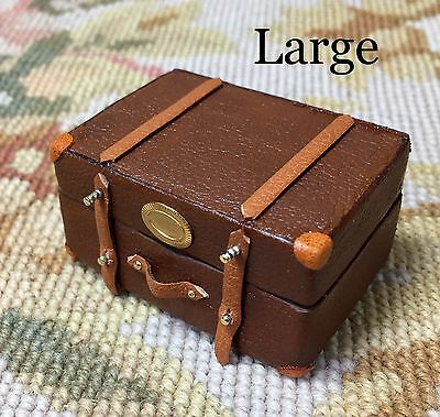 Pat Tyler Dollhouse Miniature Bag Luggage Suitcase Satchel Valise Grip Md p545
