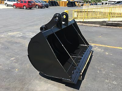 """New 72"""" Komatsu PC200 Ditch Cleaning Bucket with Pins"""