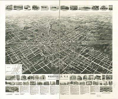 Vintage Westfield N.J., New Jersey, Map from 1929 on CD