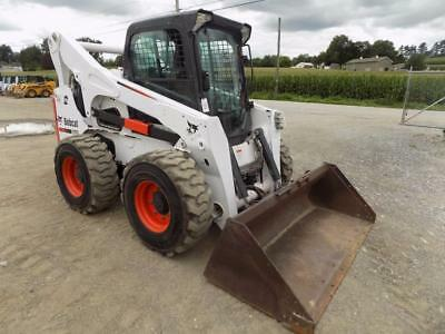 2013 Bobcat S850 Skid Steer Loader, Cab, AC/Heat, 884 Hrs, 2 Speed, 92 HP Diesel
