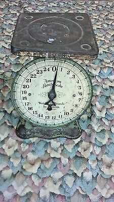 Vintage American Family Scale 25 Pound in Ounces Kitchen Counter Scale WORKS