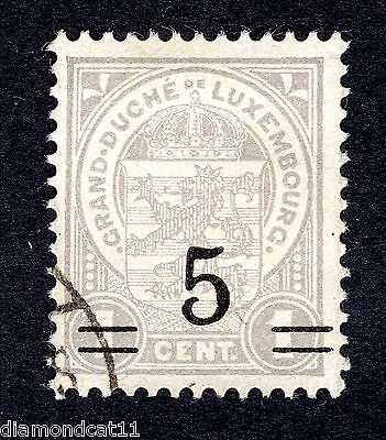 1916 Luxembourg 1c  Grey OPTD 5 SG 212 FINE USED R24251